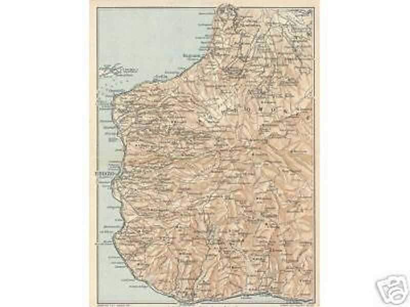 Reggio Calabria Cartina Geografica.Calabria Reggio Palmi Melito Seminara Scilla Calanna Antica Cartografia