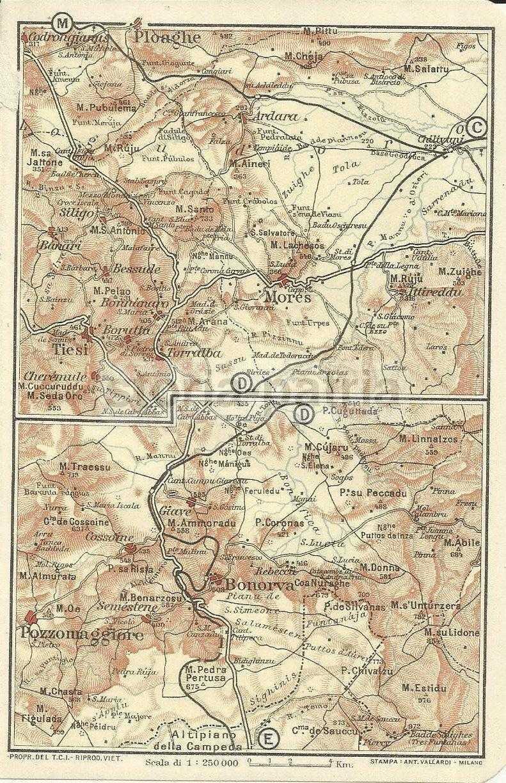 Cartina Antica Sardegna.Sardegna Mappa Geografica Interessante Antica Mappa Cartografia D Epoca